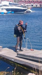 """Svante redo att dyka lite för att skrapa """"Lakritsbåten"""""""