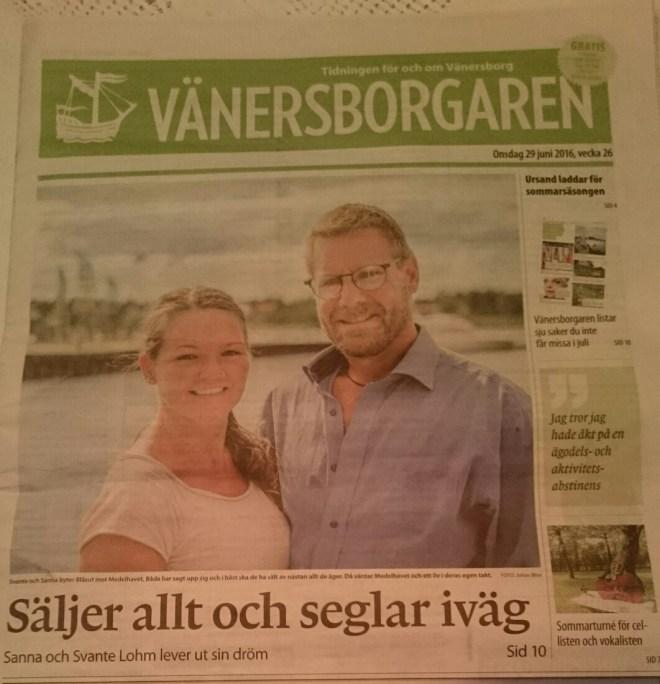 Vänersborgaren 29/6 2016
