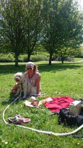 picknick när man gått vilse