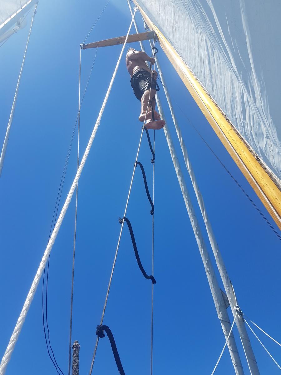 Ett inlägg om 100 tals båtar kommer på tvären i strömmarna…..ankring & så var olyckan framme igen….