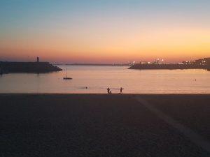 Solnedgång i Sines