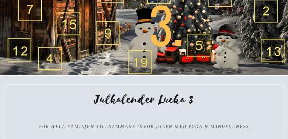 Julkalender 2018 lucka 3