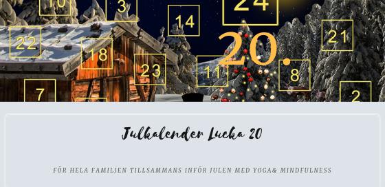 Julkalender 2018 Lucka 20