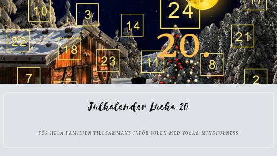 Julkalender 2018 Lucka 20 – Återhämtnings flöde