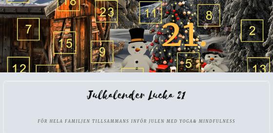 Julkalender 2018 Lucka 21