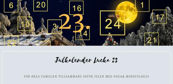 Julkalender 2018 Lucka 23
