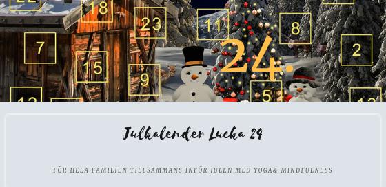 Julkalender 2018 Lucka 24
