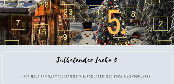 Julkalender 2018 lucka 5