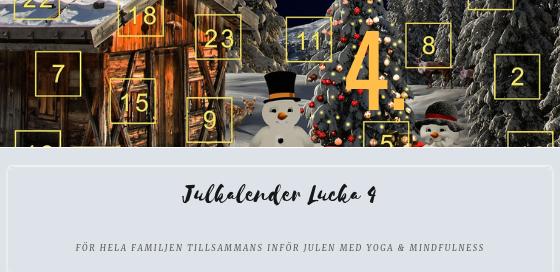 Julkalender 2018 lucka 4