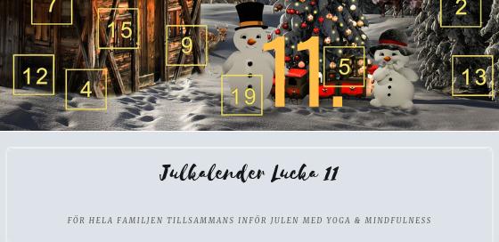Julkalender 2018 Lucka 11