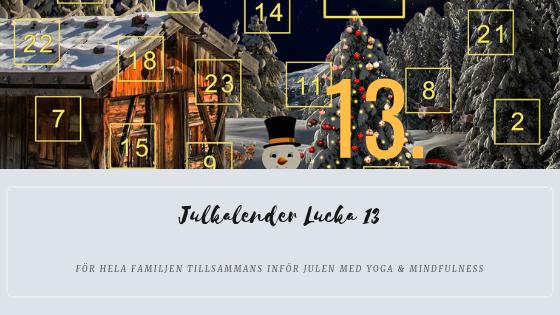 Julkalender 2018 Lucka 13